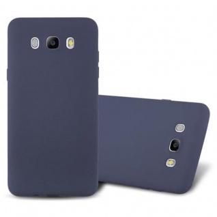 Cadorabo Hülle für Samsung Galaxy J7 2016 in FROST DUNKEL BLAU Handyhülle aus flexiblem TPU Silikon Silikonhülle Schutzhülle Ultra Slim Soft Back Cover Case Bumper