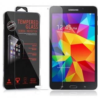 Cadorabo Panzerglas für Samsung Galaxy Tab 4 (7 Zoll) - Schutzfolie in KRISTALL KLAR ? Gehärtetes (Tempered) Display-Schutzglas in 9H Härte mit 3D Touch Kompatibilität