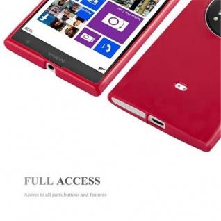 Cadorabo Hülle für Nokia Lumia 1020 in JELLY ROT ? Handyhülle aus flexiblem TPU Silikon ? Silikonhülle Schutzhülle Ultra Slim Soft Back Cover Case Bumper - Vorschau 4