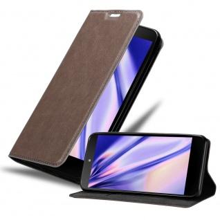 Cadorabo Hülle für LG NEXUS 5 in KAFFEE BRAUN - Handyhülle mit Magnetverschluss, Standfunktion und Kartenfach - Case Cover Schutzhülle Etui Tasche Book Klapp Style