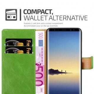 Cadorabo Hülle für Samsung Galaxy NOTE 8 in GRAS GRÜN ? Handyhülle mit Magnetverschluss, Standfunktion und Kartenfach ? Case Cover Schutzhülle Etui Tasche Book Klapp Style - Vorschau 5