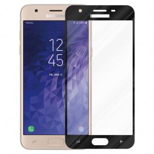 Cadorabo Vollbild Panzer Folie für Samsung Galaxy J3 2018 - Schutzfolie in TRANSPARENT mit SCHWARZ - Gehärtetes (Tempered) Display-Schutzglas in 9H Härte mit 3D Touch Kompatibilität - Vorschau 2