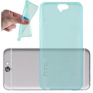 Cadorabo Hülle für HTC ONE A9 in TRANSPARENT BLAU - Handyhülle aus flexiblem TPU Silikon - Silikonhülle Schutzhülle Ultra Slim Soft Back Cover Case Bumper