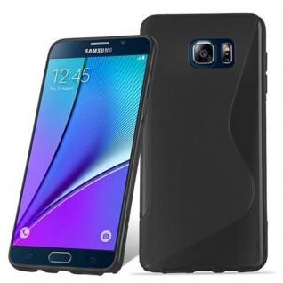 Cadorabo Hülle für Samsung Galaxy NOTE 5 in OXID SCHWARZ ? Handyhülle aus flexiblem TPU Silikon ? Silikonhülle Schutzhülle Ultra Slim Soft Back Cover Case Bumper