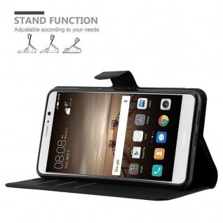Cadorabo Hülle für Huawei MATE 10 in PHANTOM SCHWARZ - Handyhülle mit Magnetverschluss, Standfunktion und Kartenfach - Case Cover Schutzhülle Etui Tasche Book Klapp Style - Vorschau 5