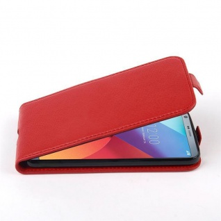 Cadorabo Hülle für LG G6 in INFERNO ROT - Handyhülle im Flip Design aus strukturiertem Kunstleder - Case Cover Schutzhülle Etui Tasche Book Klapp Style