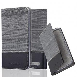Cadorabo Hülle für Xiaomi Red Mi 5A in GRAU SCHWARZ - Handyhülle mit Magnetverschluss, Standfunktion und Kartenfach - Case Cover Schutzhülle Etui Tasche Book Klapp Style