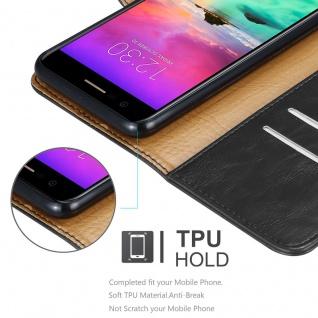 Cadorabo Hülle für LG K10 2017 in GRAPHIT SCHWARZ ? Handyhülle mit Magnetverschluss, Standfunktion und Kartenfach ? Case Cover Schutzhülle Etui Tasche Book Klapp Style - Vorschau 3