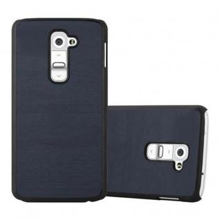 Cadorabo Hülle für LG G2 in WOODY BLAU - Hardcase Handyhülle aus Plastik gegen Kratzer und Stöße - Schutzhülle Bumper Ultra Slim Back Case Hard Cover