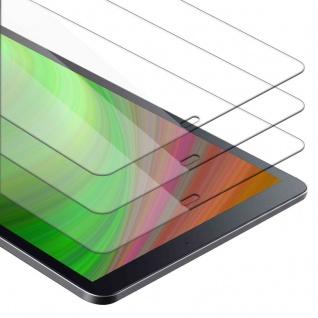 """"""" Cadorabo 3x Panzer Folie für Samsung Galaxy Tab A (10.5"""") - Schutzfolie in KRISTALL KLAR - 3er Pack Gehärtetes (Tempered) Display-Schutzglas in 9H Härte mit 3D Touch Kompatibilität"""""""