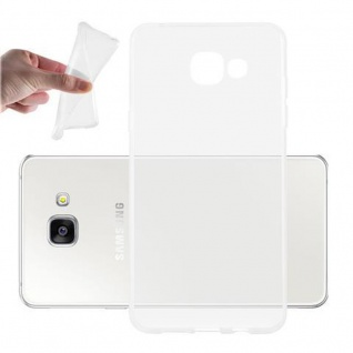 Cadorabo Hülle für Samsung Galaxy A5 2016 in VOLL TRANSPARENT - Handyhülle aus flexiblem TPU Silikon - Silikonhülle Schutzhülle Ultra Slim Soft Back Cover Case Bumper