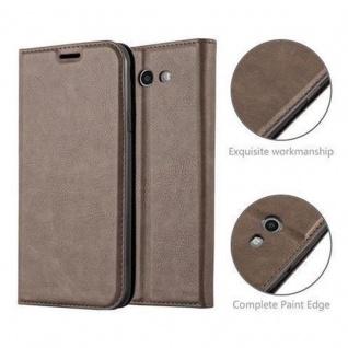 Cadorabo Hülle für Samsung Galaxy J3 2017 US Version in KAFFEE BRAUN - Handyhülle mit Magnetverschluss, Standfunktion und Kartenfach - Case Cover Schutzhülle Etui Tasche Book Klapp Style - Vorschau 5