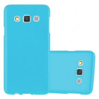 Cadorabo Hülle für Samsung Galaxy A3 2015 in JELLY HELL BLAU - Handyhülle aus flexiblem TPU Silikon - Silikonhülle Schutzhülle Ultra Slim Soft Back Cover Case Bumper