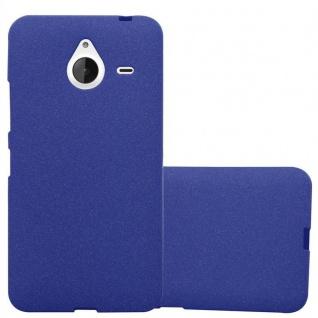 Cadorabo Hülle für Nokia Lumia 640 XL in FROST DUNKEL BLAU Handyhülle aus flexiblem TPU Silikon Silikonhülle Schutzhülle Ultra Slim Soft Back Cover Case Bumper