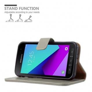 Cadorabo Hülle für Samsung Galaxy Xcover 4 in CAPPUCCINO BRAUN ? Handyhülle mit Magnetverschluss, Standfunktion und Kartenfach ? Case Cover Schutzhülle Etui Tasche Book Klapp Style - Vorschau 5