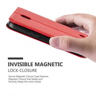 Cadorabo Hülle für Nokia 1 2017 in APFEL ROT - Handyhülle mit Magnetverschluss, Standfunktion und Kartenfach - Case Cover Schutzhülle Etui Tasche Book Klapp Style - Vorschau 5