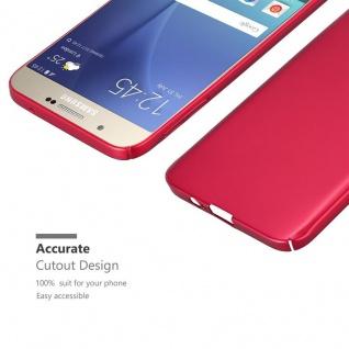 Cadorabo Hülle für Samsung Galaxy A8 2015 in METALL ROT ? Hardcase Handyhülle aus Plastik gegen Kratzer und Stöße ? Schutzhülle Bumper Ultra Slim Back Case Hard Cover - Vorschau 5