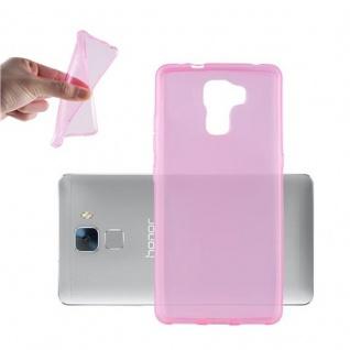 Cadorabo Hülle für Honor 7 in TRANSPARENT PINK - Handyhülle aus flexiblem TPU Silikon - Silikonhülle Schutzhülle Ultra Slim Soft Back Cover Case Bumper
