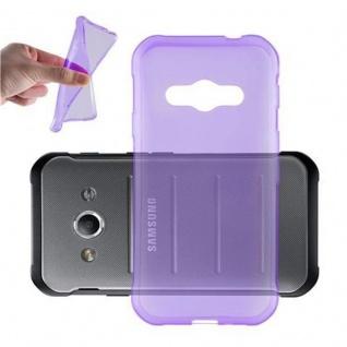 Cadorabo Hülle für Samsung Galaxy XCOVER 3 in TRANSPARENT LILA - Handyhülle aus flexiblem TPU Silikon - Silikonhülle Schutzhülle Ultra Slim Soft Back Cover Case Bumper
