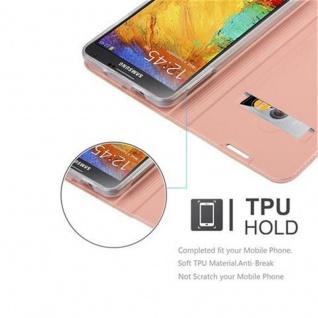 Cadorabo Hülle für Samsung Galaxy NOTE 3 in CLASSY ROSÉ GOLD - Handyhülle mit Magnetverschluss, Standfunktion und Kartenfach - Case Cover Schutzhülle Etui Tasche Book Klapp Style - Vorschau 2