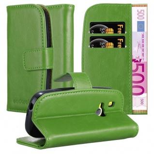 Cadorabo Hülle für Nokia 3310 in GRAS GRÜN Handyhülle mit Magnetverschluss, Standfunktion und Kartenfach Case Cover Schutzhülle Etui Tasche Book Klapp Style
