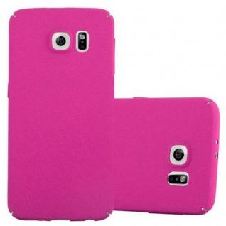 Cadorabo Hülle für Samsung Galaxy S6 in FROSTY PINK - Hardcase Handyhülle aus Plastik gegen Kratzer und Stöße - Schutzhülle Bumper Ultra Slim Back Case Hard Cover