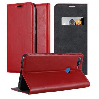 Cadorabo Hülle für Xiaomi Mi 8 Lite in APFEL ROT - Handyhülle mit Magnetverschluss, Standfunktion und Kartenfach - Case Cover Schutzhülle Etui Tasche Book Klapp Style