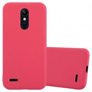 Cadorabo Hülle für LG K11 2018 / K11 PLUS in CANDY ROT Handyhülle aus flexiblem TPU Silikon Silikonhülle Schutzhülle Ultra Slim Soft Back Cover Case Bumper