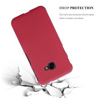 Cadorabo Hülle für Samsung Galaxy XCover 4 in FROSTY ROT - Hardcase Handyhülle aus Plastik gegen Kratzer und Stöße - Schutzhülle Bumper Ultra Slim Back Case Hard Cover - Vorschau 3