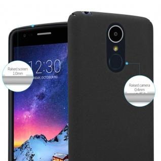 Cadorabo Hülle für LG K8 2017 in FROSTY SCHWARZ - Hardcase Handyhülle aus Plastik gegen Kratzer und Stöße - Schutzhülle Bumper Ultra Slim Back Case Hard Cover - Vorschau 3
