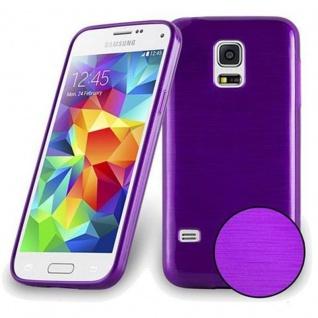 Cadorabo Hülle für Samsung Galaxy S5 MINI / S5 MINI DUOS in LILA - Handyhülle aus flexiblem TPU Silikon - Silikonhülle Schutzhülle Ultra Slim Soft Back Cover Case Bumper