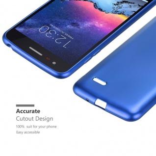 Cadorabo Hülle für LG K8 2017 in METALLIC BLAU - Handyhülle aus flexiblem TPU Silikon - Silikonhülle Schutzhülle Ultra Slim Soft Back Cover Case Bumper - Vorschau 5