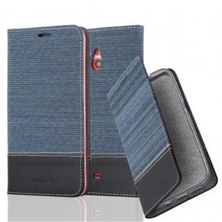 Cadorabo Hülle für Nokia Lumia 1320 in DUNKEL BLAU SCHWARZ - Handyhülle mit Magnetverschluss, Standfunktion und Kartenfach - Case Cover Schutzhülle Etui Tasche Book Klapp Style
