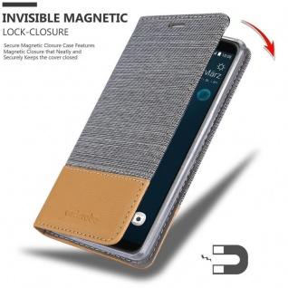 Cadorabo Hülle für HTC Desire 12 PLUS in HELL GRAU BRAUN - Handyhülle mit Magnetverschluss, Standfunktion und Kartenfach - Case Cover Schutzhülle Etui Tasche Book Klapp Style - Vorschau 3