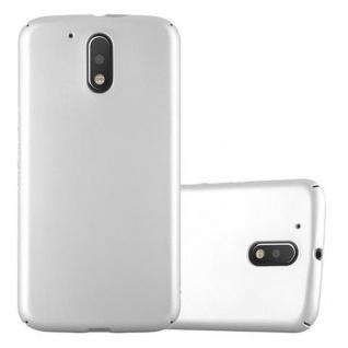 Cadorabo Hülle für Motorola MOTO G4 / MOTO G4 PLUS in METALL SILBER ? Hardcase Handyhülle aus Plastik gegen Kratzer und Stöße ? Schutzhülle Bumper Ultra Slim Back Case Hard Cover