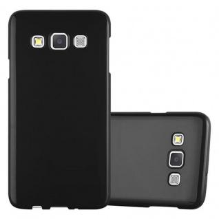 Cadorabo Hülle für Samsung Galaxy A3 2015 in JELLY SCHWARZ - Handyhülle aus flexiblem TPU Silikon - Silikonhülle Schutzhülle Ultra Slim Soft Back Cover Case Bumper