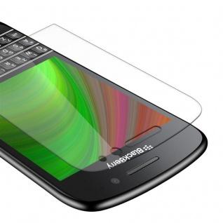 Cadorabo Panzer Folie für Blackberry Q10 - Schutzfolie in KRISTALL KLAR - Gehärtetes (Tempered) Display-Schutzglas in 9H Härte mit 3D Touch Kompatibilität