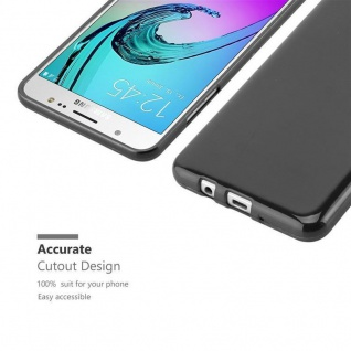 Cadorabo Hülle für Samsung Galaxy J5 2016 in SCHWARZ - Handyhülle aus flexiblem TPU Silikon - Silikonhülle Schutzhülle Ultra Slim Soft Back Cover Case Bumper - Vorschau 5