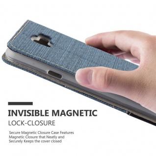 Cadorabo Hülle für Samsung Galaxy A7 2016 in DUNKEL BLAU SCHWARZ - Handyhülle mit Magnetverschluss, Standfunktion und Kartenfach - Case Cover Schutzhülle Etui Tasche Book Klapp Style - Vorschau 5
