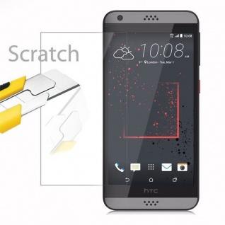 Cadorabo Panzer Folie für HTC Desire 530/630 - Schutzfolie in KRISTALL KLAR - Gehärtetes (Tempered) Display-Schutzglas in 9H Härte mit 3D Touch Kompatibilität - Vorschau 2