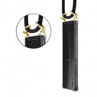 Cadorabo Handy Kette für Sony Xperia XA1 in SCHWARZ ? Silikon Necklace Umhänge Hülle mit Gold Ringen, Kordel Band Schnur und abnehmbarem Etui ? Schutzhülle - Vorschau 5