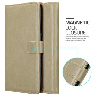 Cadorabo Hülle für Xiaomi Mi Max 2 in CAPPUCCINO BRAUN - Handyhülle mit Magnetverschluss, Standfunktion und Kartenfach - Case Cover Schutzhülle Etui Tasche Book Klapp Style - Vorschau 2
