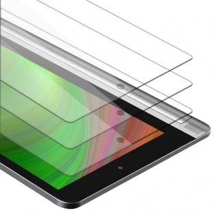 """Cadorabo 3x Panzer Folie für Lenovo Yoga Tab 2 (10.1"""" Zoll) Schutzfolie in KRISTALL KLAR 3er Pack Gehärtetes (Tempered) Display-Schutzglas in 9H Härte mit 3D Touch Kompatibilität"""