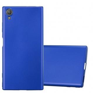 Cadorabo Hülle für Sony Xperia XA1 PLUS in METALLIC BLAU - Handyhülle aus flexiblem TPU Silikon - Silikonhülle Schutzhülle Ultra Slim Soft Back Cover Case Bumper