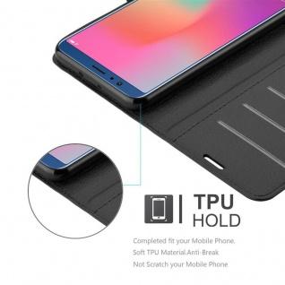 Cadorabo Hülle für Honor 10 VIEW in PHANTOM SCHWARZ - Handyhülle mit Magnetverschluss, Standfunktion und Kartenfach - Case Cover Schutzhülle Etui Tasche Book Klapp Style - Vorschau 3