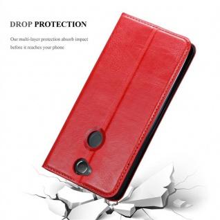 Cadorabo Hülle für Sony Xperia XA2 PLUS in APFEL ROT Handyhülle mit Magnetverschluss, Standfunktion und Kartenfach Case Cover Schutzhülle Etui Tasche Book Klapp Style - Vorschau 5