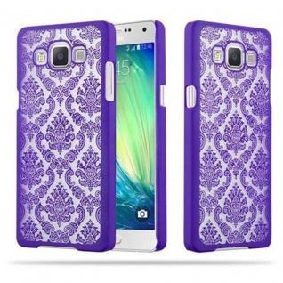 Samsung Galaxy A5 2015 Hardcase Hülle in LILA von Cadorabo - Blumen Paisley Henna Design Schutzhülle ? Handyhülle Bumper Back Case Cover