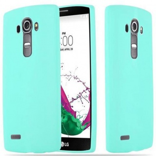 Cadorabo Hülle für LG G4 / G4 PLUS in CANDY BLAU - Handyhülle aus flexiblem TPU Silikon - Silikonhülle Schutzhülle Ultra Slim Soft Back Cover Case Bumper