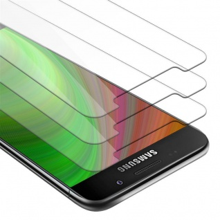 Cadorabo 3x Panzer Folie für Samsung Galaxy A7 2016 - Schutzfolie in KRISTALL KLAR - 3er Pack Gehärtetes (Tempered) Display-Schutzglas in 9H Härte mit 3D Touch Kompatibilität