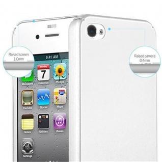 Cadorabo Hülle für Apple iPhone 4 / iPhone 4S in METALL SILBER - Hardcase Handyhülle aus Plastik gegen Kratzer und Stöße - Schutzhülle Bumper Ultra Slim Back Case Hard Cover - Vorschau 5